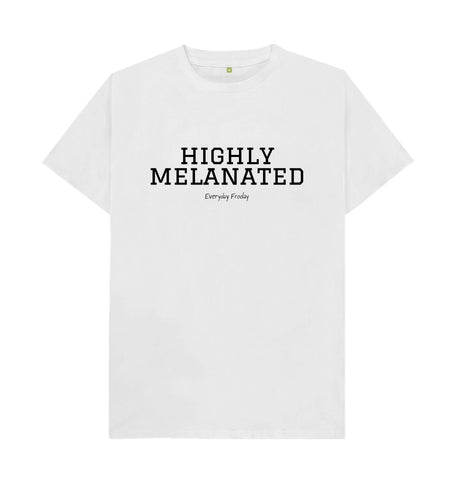 White Unisex Tee | Highly Melanated (White)