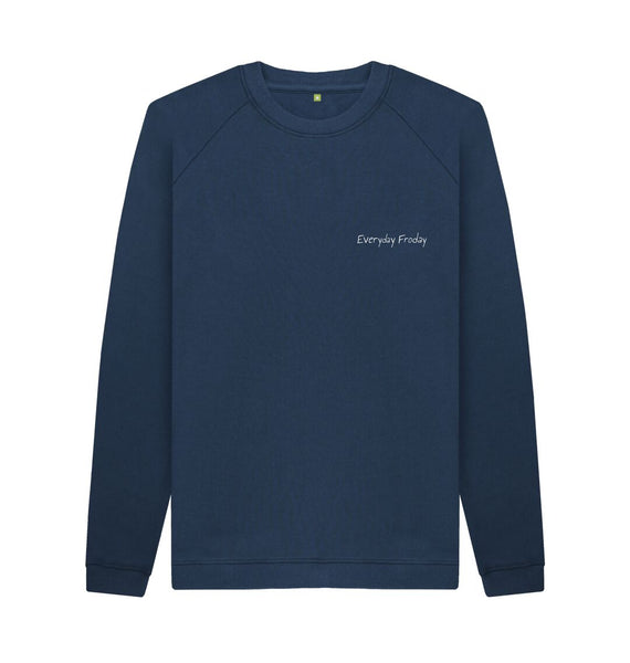 Navy Blue Unisex Sweatshirt | Everyday Froday Classic Small Logo