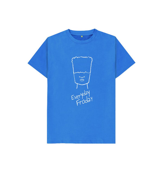 Bright Blue Kids Tee | Everyday Froday Boy