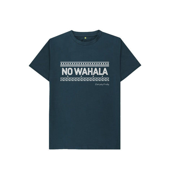 Denim Blue Unisex Kids Tee | No Wahala