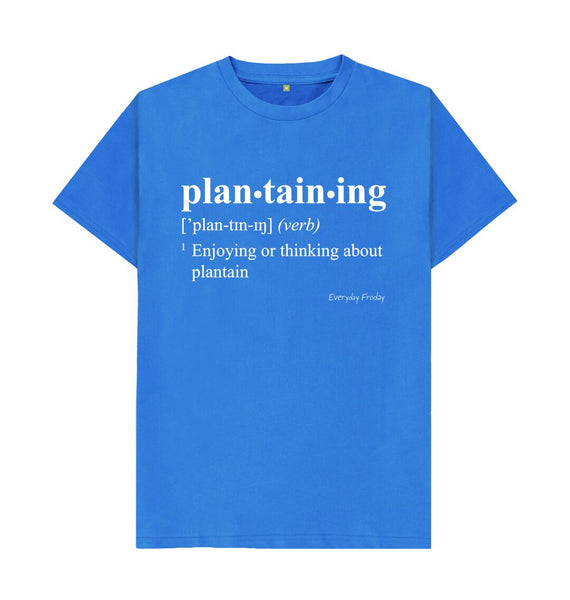 Bright Blue Unisex Tee | Plantaining (Colour)
