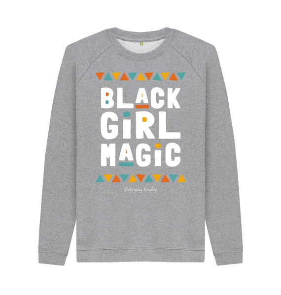 Light Heather Unisex Sweatshirt | Black Girl Magic