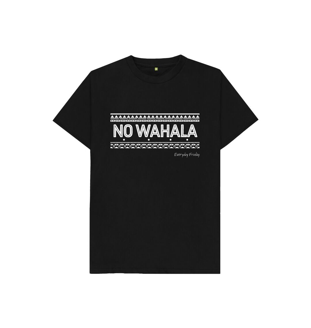 Black Unisex Kids Tee | No Wahala
