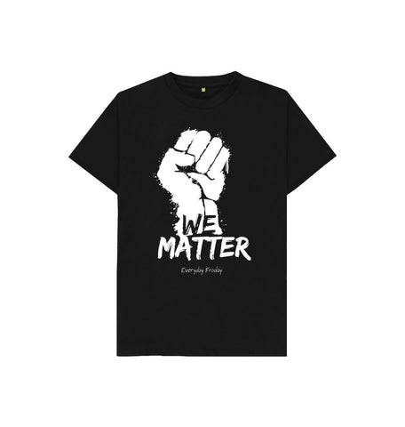 Black Unisex Kids Tee | We Matter