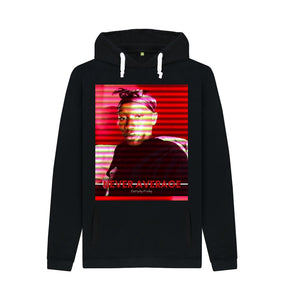 Black Unisex Hoodie | Never Average RED (black)