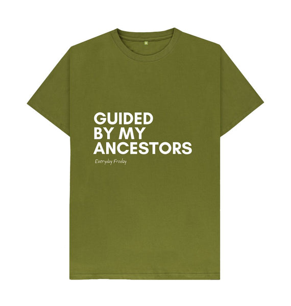 Moss Green Unisex Tee | Guided by my ancestors (coloured)