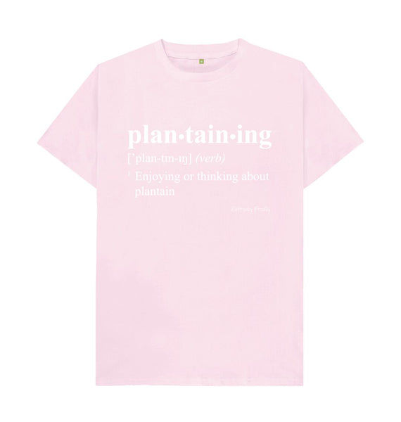 Pink Unisex Tee | Plantaining (Colour)