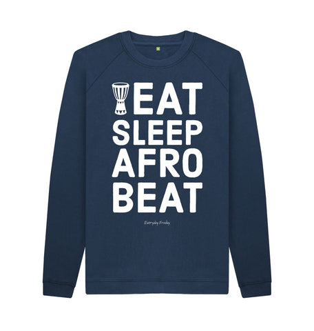 Navy Blue Unisex Sweatshirt | Eat Sleep Afrobeat