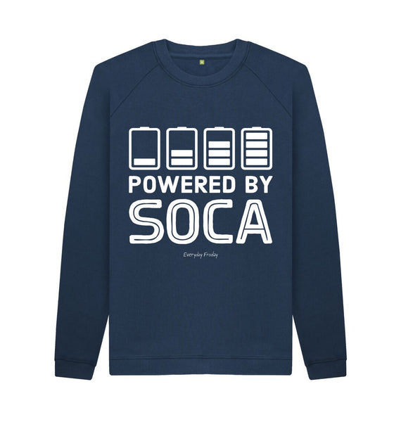 Navy Blue Unisex Sweatshirt | Powered By Soca