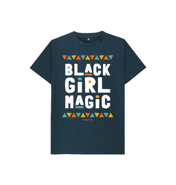 Denim Blue Unisex Kids Tee | Black Girl Magic