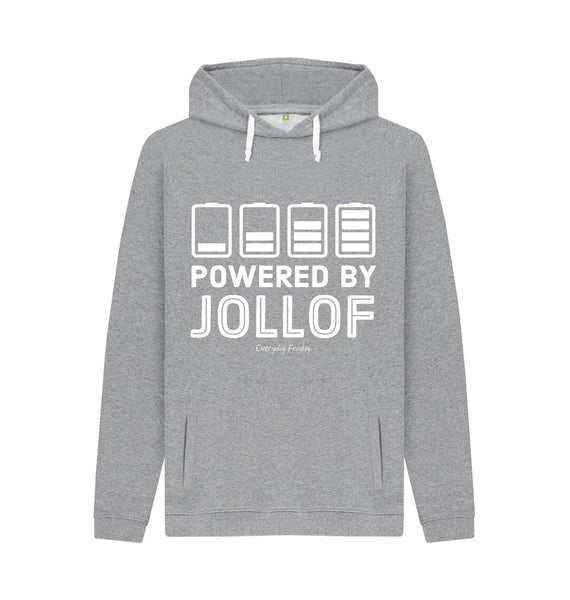 Light Heather Unisex Hoodie | Powered By Jollof