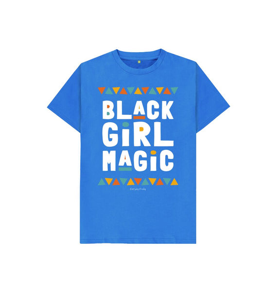 Bright Blue Unisex Kids Tee | Black Girl Magic
