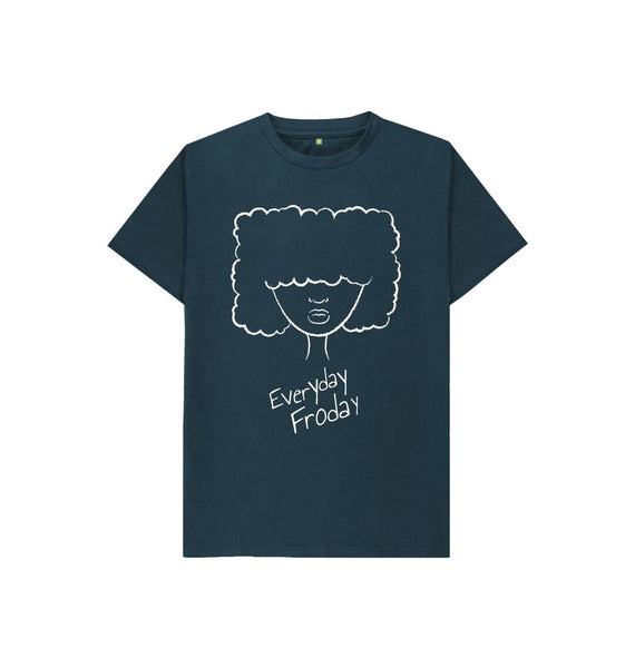 Denim Blue Kids Unisex Tee | Everyday Froday Girl