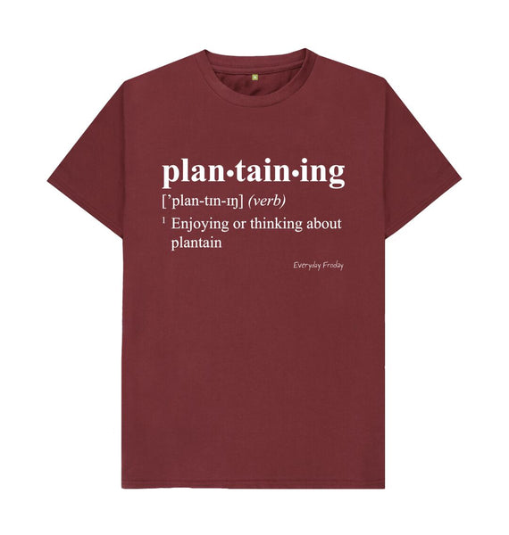Red Wine Unisex Tee | Plantaining (Colour)