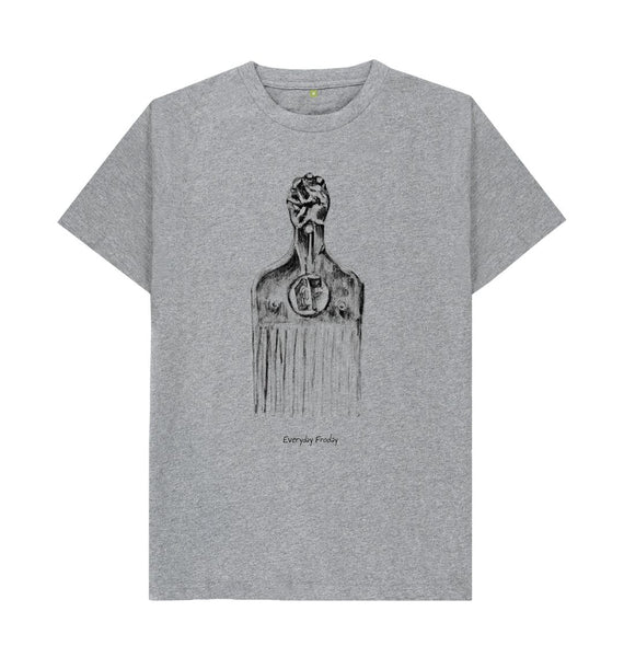 Athletic Grey Unisex Tee | Afro Comb