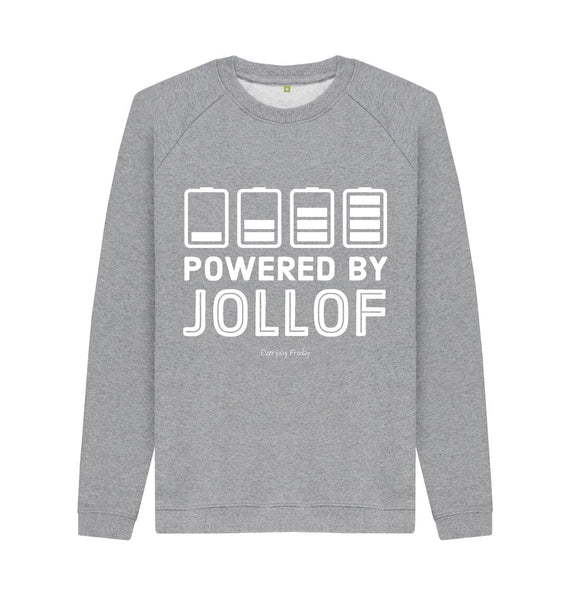 Light Heather Unisex Sweatshirt | Powered By Jollof