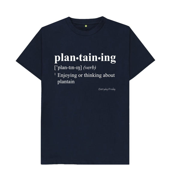 Navy Blue Unisex Tee | Plantaining (Colour)