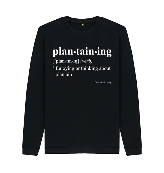Black Unisex Sweatshirt | Plantaining