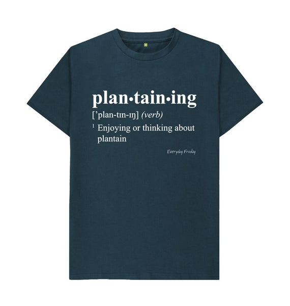 Denim Blue Unisex Tee | Plantaining (Colour)