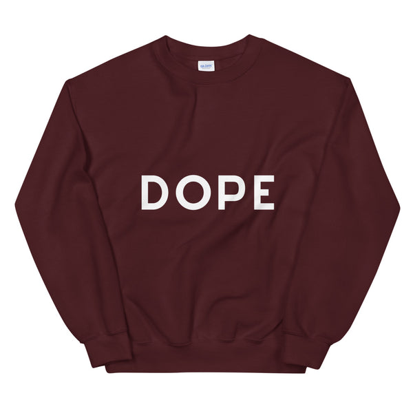 Dope sweatshirt in Maroon