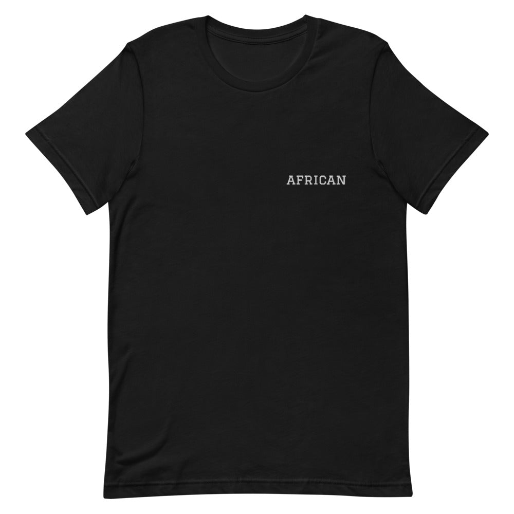 African Tee Embroidery in Black