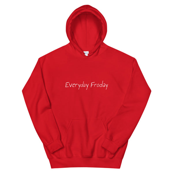 Everyday Froday Hoodie in Red