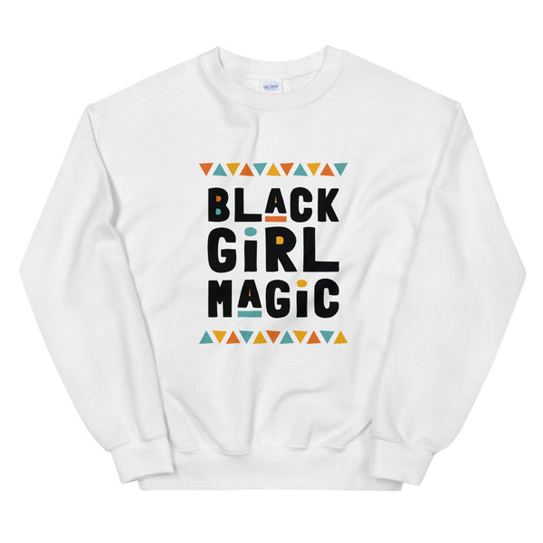 Black Girl Magic Sweatshirt in White