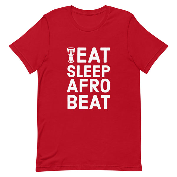Eat Sleep Afrobeat Tee in Red