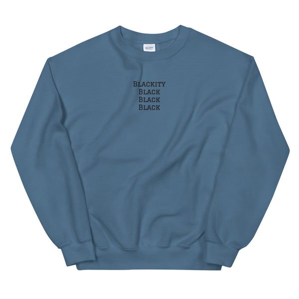 Blackity Sweatshirt in Indigo Blue