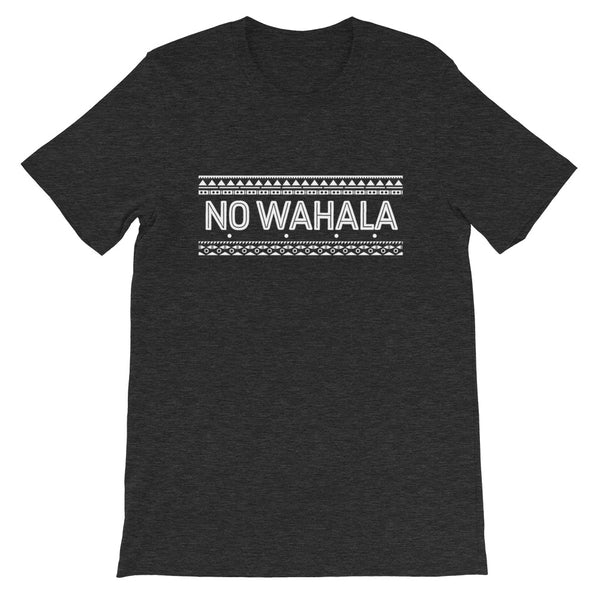 No Wahala Tee in Dark Grey Heather