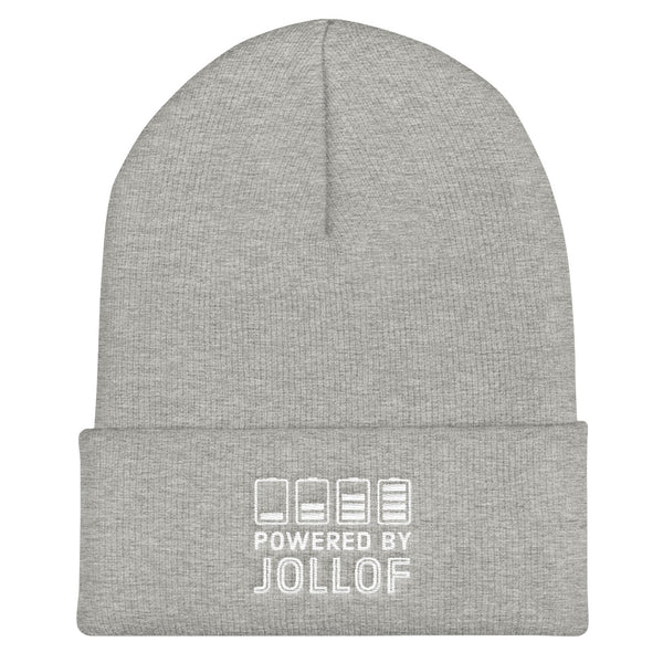 Powered By Jollof beanie in heather grey