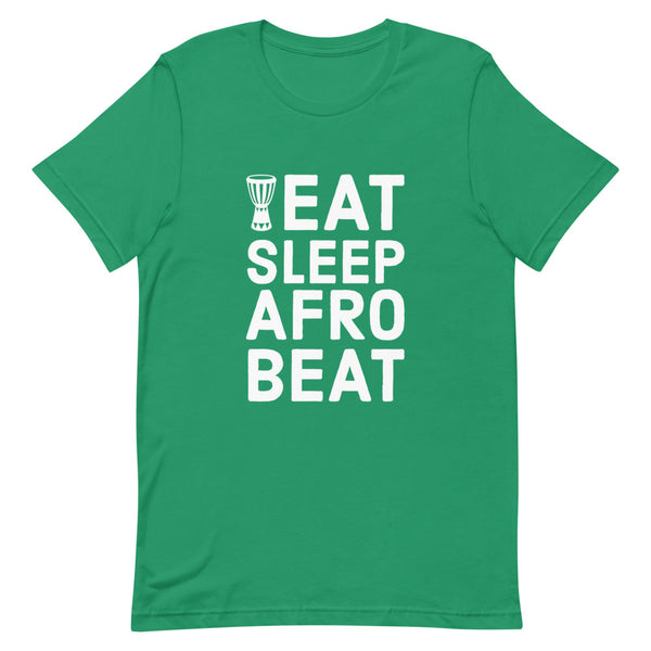 Eat Sleep Afrobeat Tee in Kelly