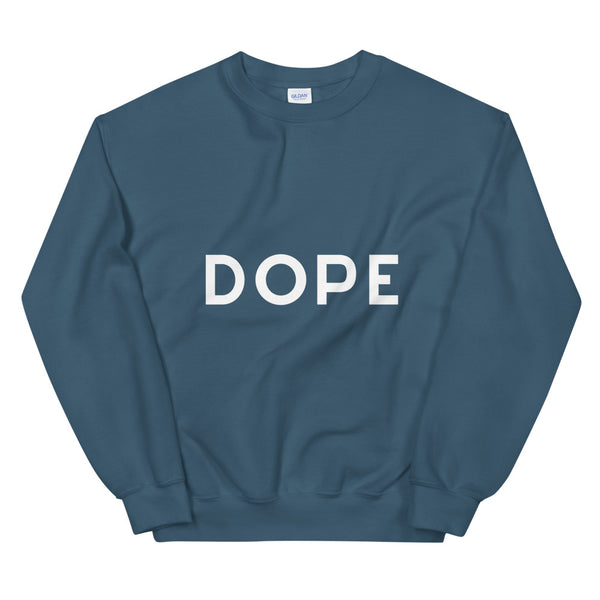 Dope sweatshirt in Indigo Blue