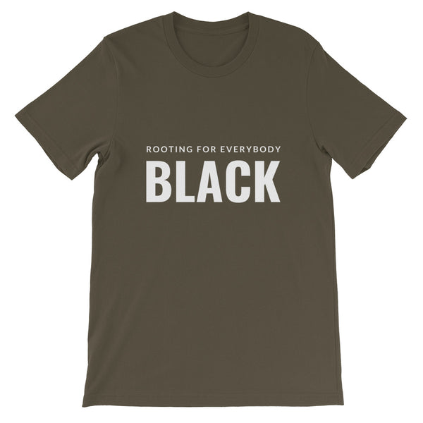 Rooting for everybody Black tee in Army
