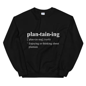 Plantaining sweatshirt in black