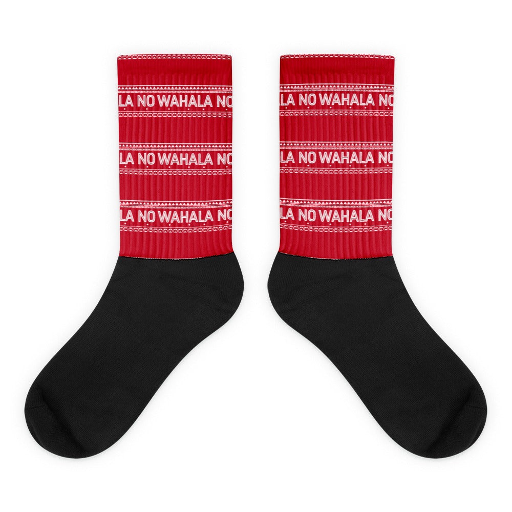 Socks | No Wahala (Red/Black)
