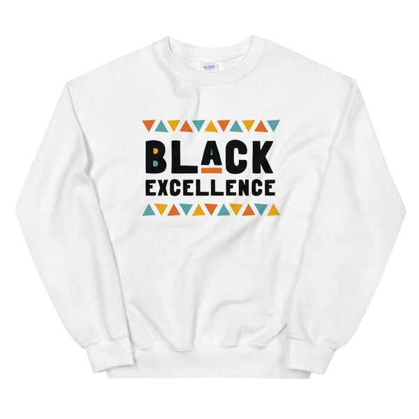Black Excellence Sweatshirt in White