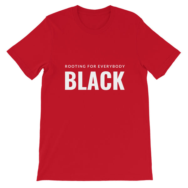Rooting for everybody Black tee in red