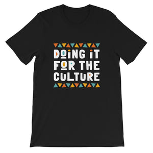 Doing It For The Culture Tee in Black