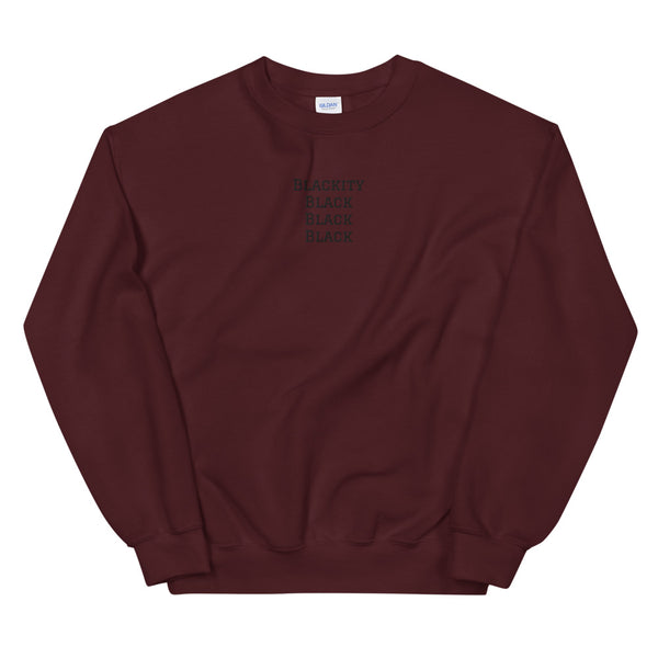 Blackity Sweatshirt in Maroon