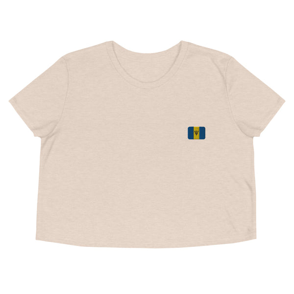 Crop Tee | Rep your flag - Barbados 🇧🇧  [LIMITED EDITION]