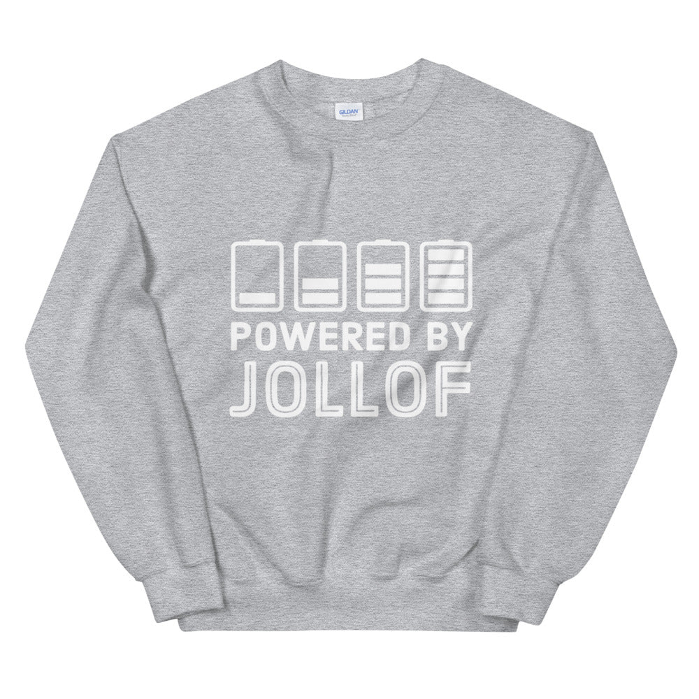 Powered By Jollof sweatshirt in grey