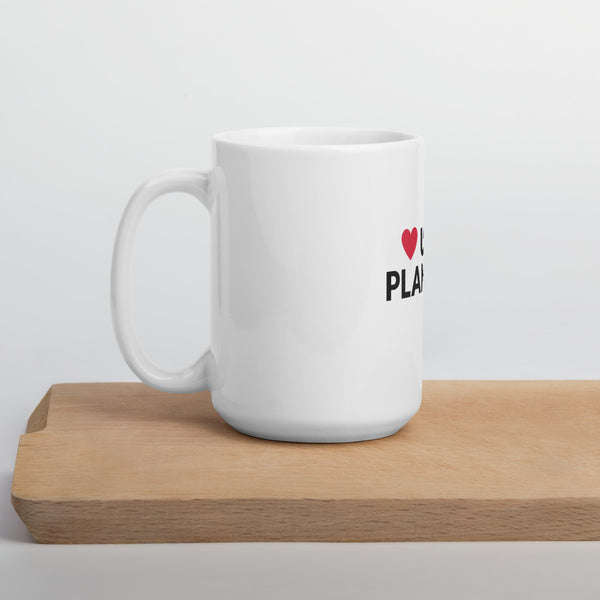 Love u like plantain mug in white