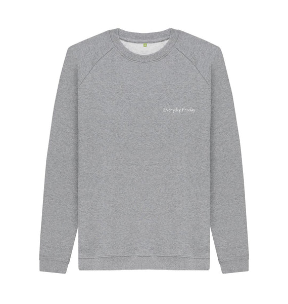 Light Heather Unisex Sweatshirt | Everyday Froday Classic Small Logo