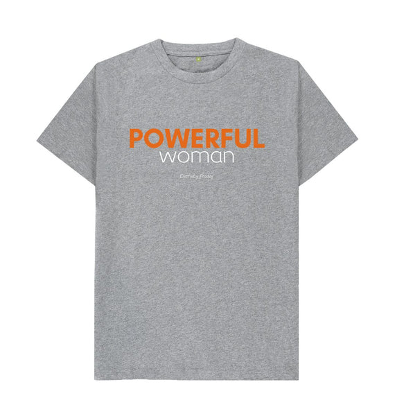 Athletic Grey Unisex Tee | Powerful Woman