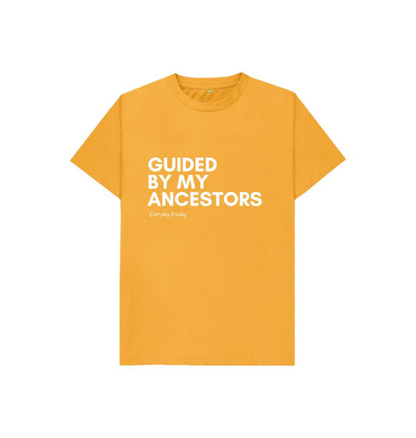 Mustard Unisex Kids Tee |  Guided By My Ancestors