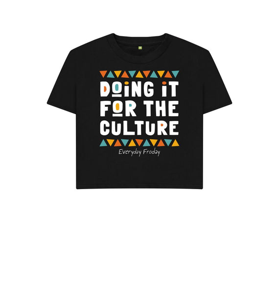 Black Boxy Tee | Doing it for the culture