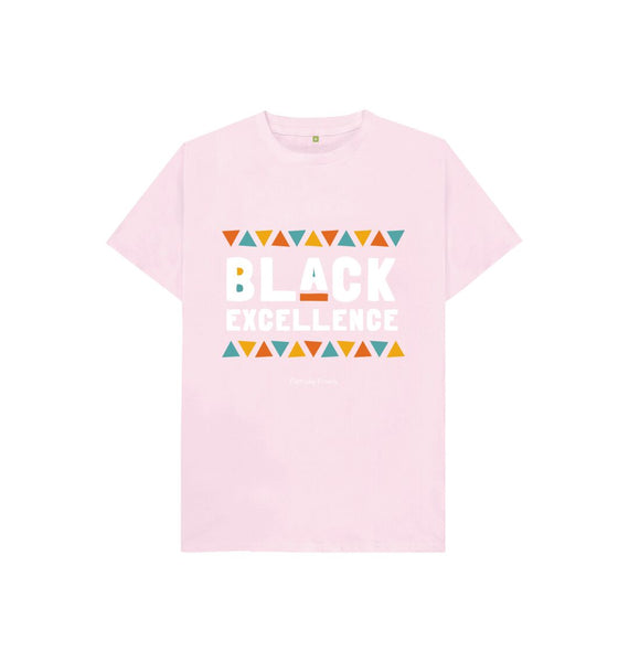 Pink Unisex Kids Tee | Black Excellence