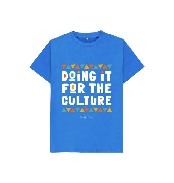 Bright Blue Unisex Kids Tee | Doing it for the culture