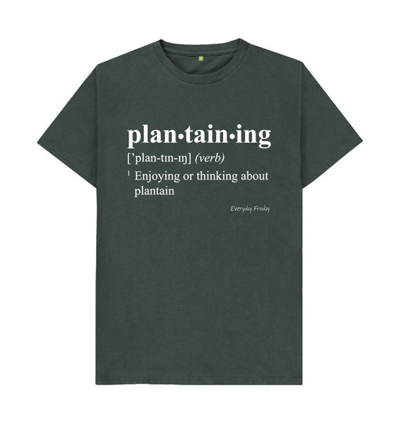 Dark Grey Unisex Tee | Plantaining (Colour)